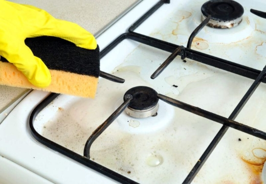 Очистка плиты