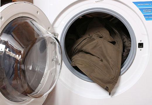 Синтепоновая куртка в стиральной машинке