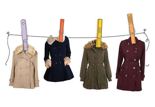 Разные виды пальто
