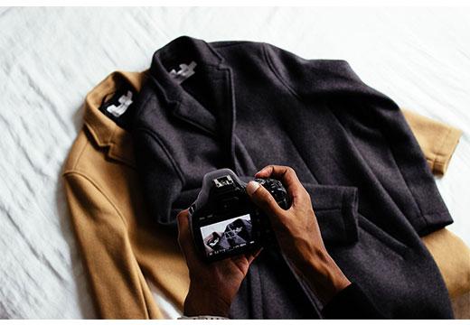 Черное и коричневое пальто