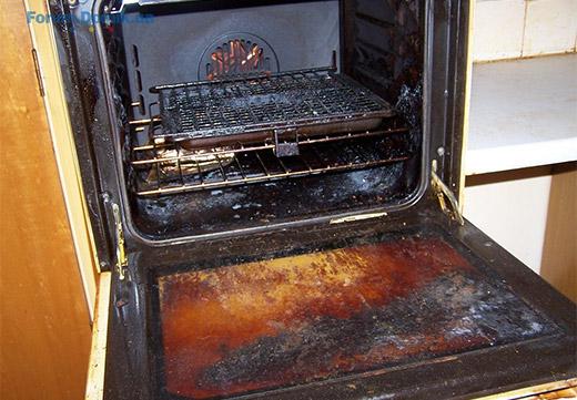 застарелый жир в духовке