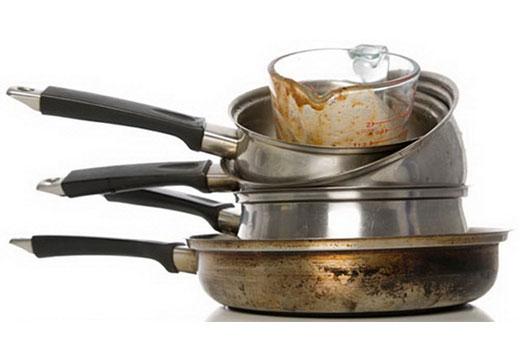 пригоревшие кастрюли