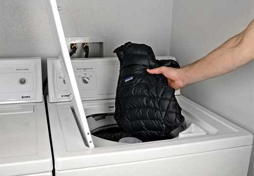 куртка и стиральная машинка