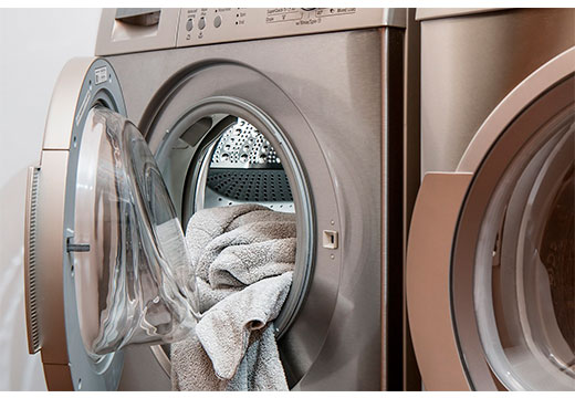 стиральная машинка с вещами