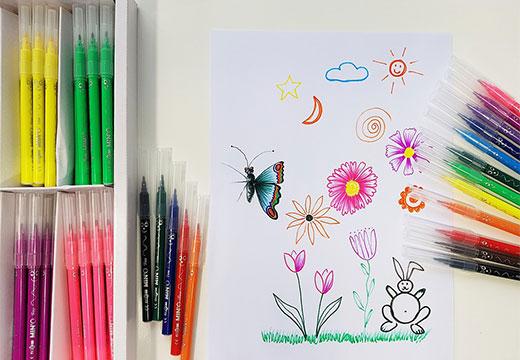 рисунок маркерами