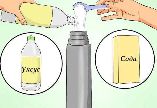 термос сода уксус