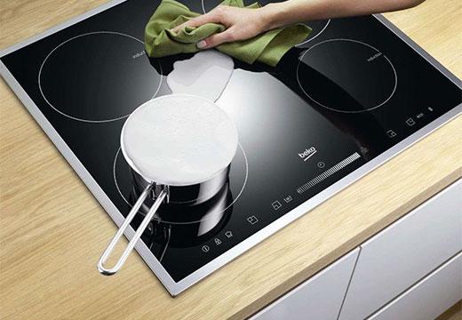 Чистка керамической плиты
