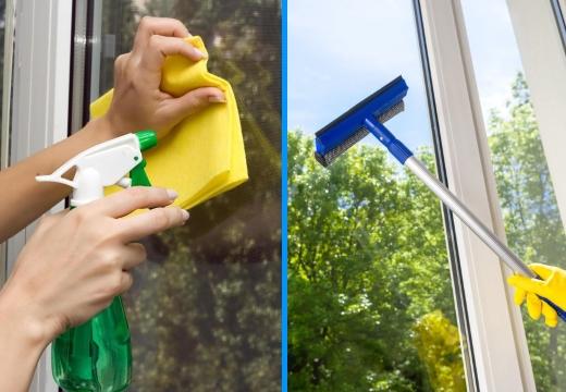 как мыть окно