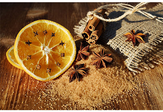 Апельсин, бадьян и корица