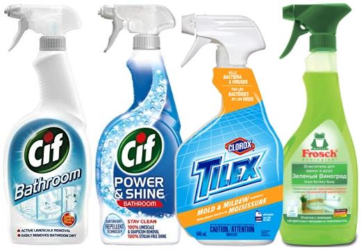 средства для чистки ванной