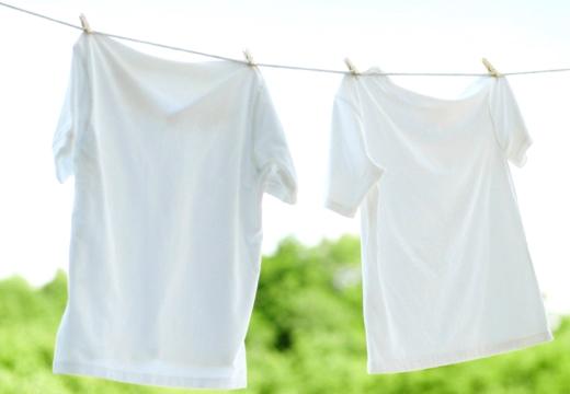 белые футболки сушаться
