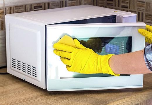 мыть микроволновку снаружи