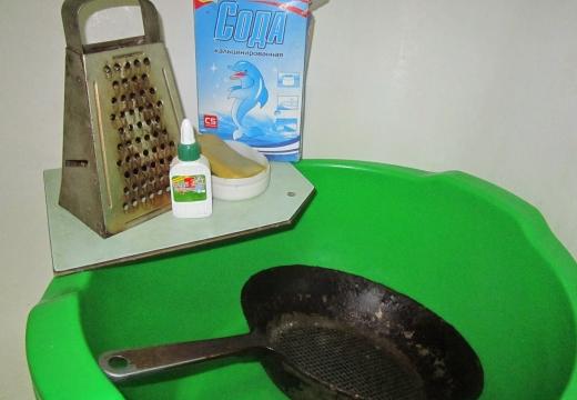 сковорода мыло сода клей