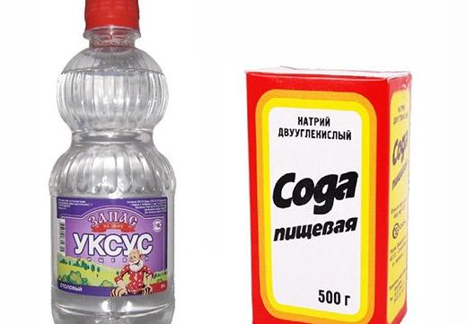 Сода и уксус для чистки