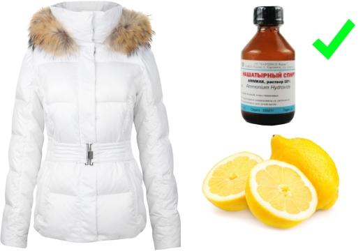 средства от пятен белая куртка