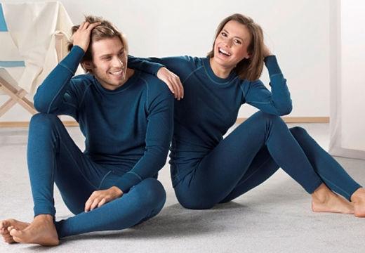 мужчина и женщина в термобелье
