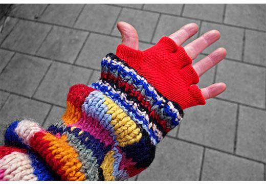 Шерстяные рукава