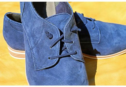 Замшевые туфли синие