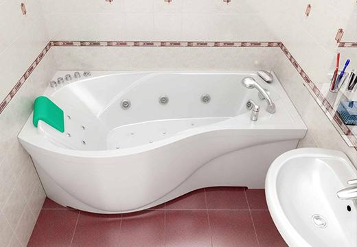 Большая акриловая ванна